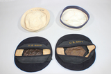 Lot of 4 US WW2 Navy Hats. Donald Duck & Dixie Cup.