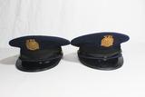 Lot of 2 US WW2 Era Virginia Polytechnic Institute VPI VMI Cadet Visor Caps