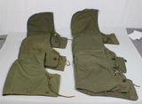 Lot of 6 US WW2 M43 Field Jacket Hoods.  Most Marked. Some Variants.