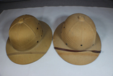 Lot of 2 US WW2 Sun Pith Helmets. Both Named.