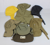 Lot of 6 US WW2 USN Navy Foul Weather Deck Jacket Hoods.
