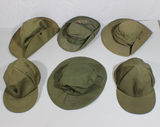 Lot of 6 US & Australian Vietnam War Boonie Hats, Ball Caps, And Bush Slouch Hats
