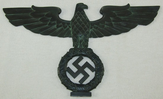 Scarce Bronze Eagle/Swastika Desk Sculpture-Josef Pabst