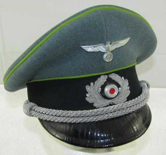 Scarce WW2 German Visor Cap For Grenadier Officer