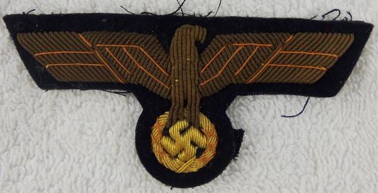 Kriegsmarine Officer's Bullion Breast Eagle