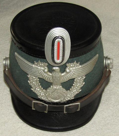 WW2 Period Nazi Urban Schutzpolizei Shako For Enlisted-EREL