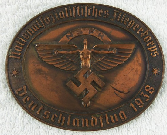 Pre WW2 NSFK Award  Medallion In Bronze-Numbered