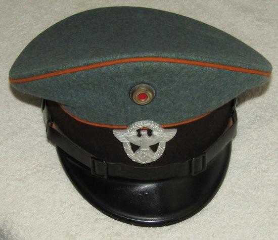 WW2 Nazi Gendarmerie (State Rural Police) Visor Cap For Enlisted