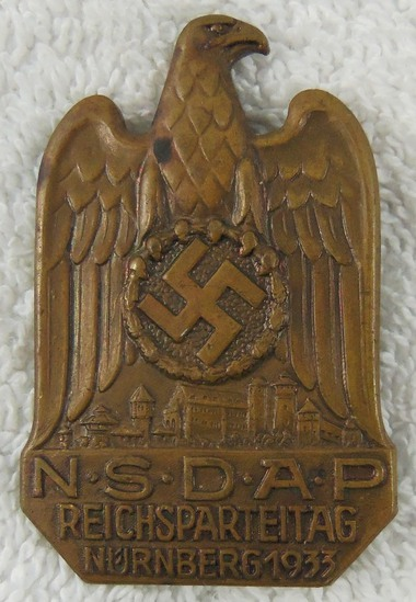 Early Third Reich NSDAP Nurnberg Rally Badge-1933 Dated