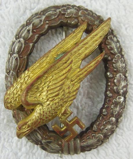 German Fallschirmjager Qualification Badge-Unmarked FLL