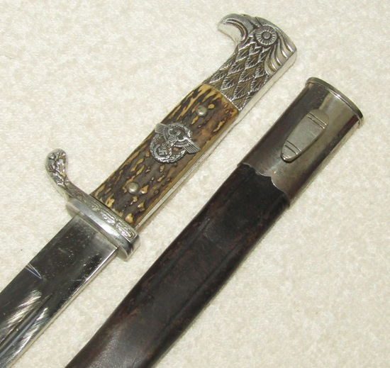 "Short Model Nazi Police Dress ""Bayonet"" With  Scabbard-Eickhorn"