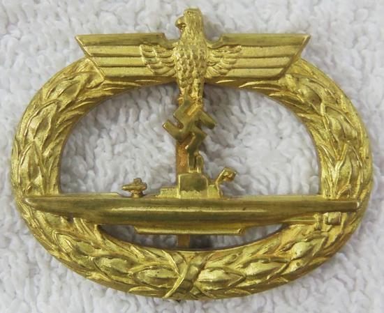 WW2 Period German U-boat Badge-Unmarked Example By Schwerin