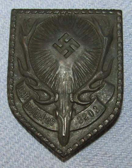 WW2 Deutsche Jägerschaft Jagdaufseher (Gamekeeper's) Badge-Numbered