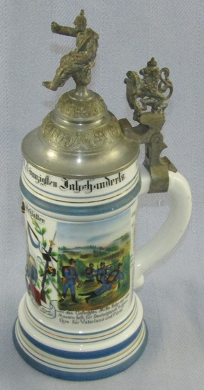 Scarce Original Prussian Period Regimental Stein