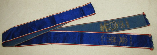 "Prussian/Imperial German Silk Commemorative Streamer ""5th West Infantry Regt. No. 53"""