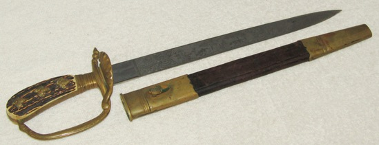 Pre/Early Third Reich Senior Subordinate's Hunting Cutlass-Double Side Etched Blade -WKC