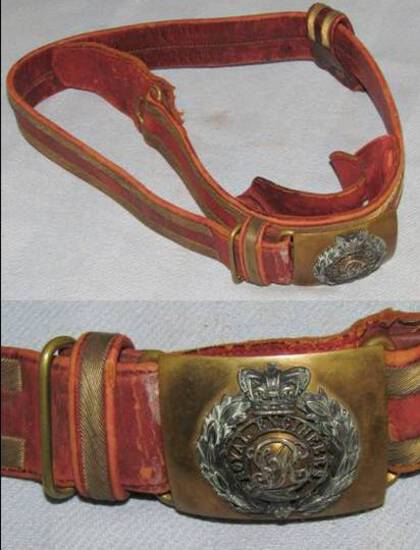 Scarce Victorian Period British Royal Engineer's Brocade Belt With Buckle