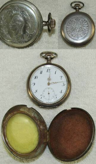 Rare WW1 German Pocket Watch With Engraved Presentation-Combat Shock Case