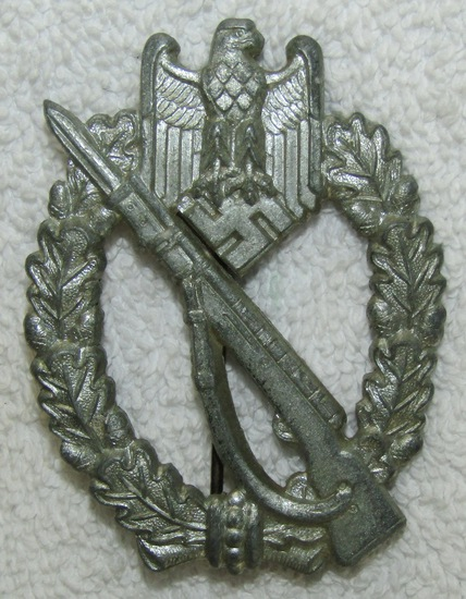 "Scarce ""Unknown Maker #10"" German Infantry Assault Badge"