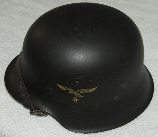 Luftwaffe Single Decal M42 Helmet With Liner/Chin Strap-ET64