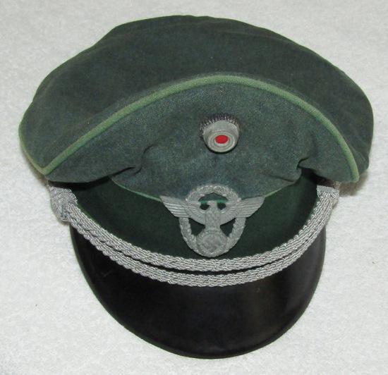"Pre WW2/Early Third Reich Period ""Hessische Polizei"" Officer's Visor Cap-Named"