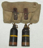 2pcs Type 89 Japanese Inert Mortar Rounds With RARE Carry Bag