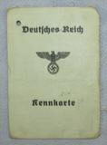 Deutsches Reich Nazi Police Issue Kennkarte (Identification Card/Booklet)
