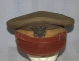 WW2 U.S. Army/Army Air Corp Officer's Visor With Rare Bullion Insignia-Knox