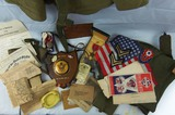 Named WW2 U.S. 112th Field Artillery Document/Medal/Misc. Items Grouping