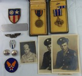 Named WW2 CBI Army Air Corp Air Crew Airman Medal/Photo Etc. Grouping