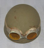 WW2 British Dispatch Rider's Helmet With Goggles.