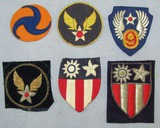 6pcs-WW2 Period Theater Made U.S. Army Air Corp Patches