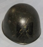 Original WW2 Period Italian M33 Helmet With MVSN? Stencil Painted Insignia-Named