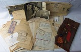 Named WW2/Korean War USMC Vet Scrapbook/Map/Document Grouping