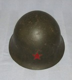 North Korean/Korean War Soldier Helmet- Modified Type 90 Japanese Helmet W/U.S. M1 Liner Webbing