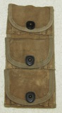 Rare WW1 M1917 .45 Revolver Drop Down Ammo Pouch With Clip Ammo
