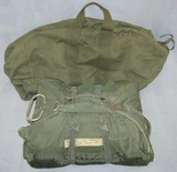Vietnam War Period Airborne Chest Reserve Parachute With Carry Bag-1967 Dated