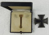 Cased WW1 Iron Cross 1st Class-Pin Back-.900 Stamped-Rare Maker-F. SEDLATZEK, BERLIN