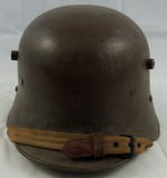 WW1 Austrian M18 Helmet With Liner/Original Chin Strap/Original Finish