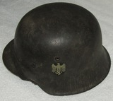 Wehrmacht Single Decal M42 Helmet With Liner/Chin Strap