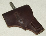 WW2 Period Brown Leather Italian Officer's 9mm Beretta Holster