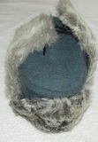 Unissued Nazi Police Rabbit Fur Winter Cap-1944 Dated-RBNr'ed