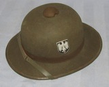 2nd Model WW2 German Wehrmacht Pith Helmet-1942 Dated
