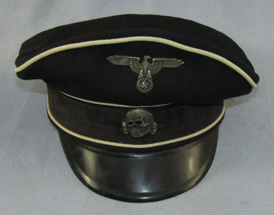 Allgemeine SS Officer/Other Ranks Visor Cap For Reenactor