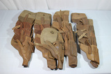Lot of 21 Cold War Era Russian Made TT-33 Tokarev Pig Skin Leather Export Holsters.