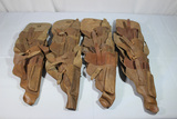 Lot of 20 Cold War Era Russian Made TT-33 Tokarev Pig Skin Leather Export Holsters.