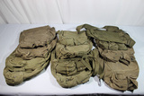 Lot of 12 US Vietnam & Later Gas Mask Bags. All Used.