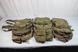 Lot of 11 US Vietnam & Later Gas Mask Bags. All Used.