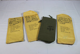 Lot of 3 US Vietnam Personal Effects Hospital or Death Bags. In Paper Wrappers. Unused.