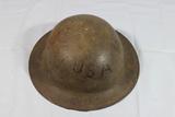 Great Looking US WW1 Soldier Etched Helmet.